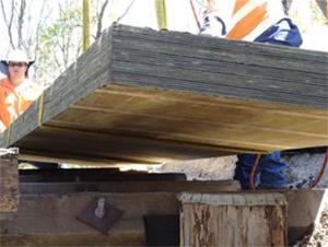 Building a timber bridge