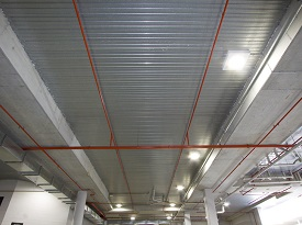 armourdeck ceiling made of steel